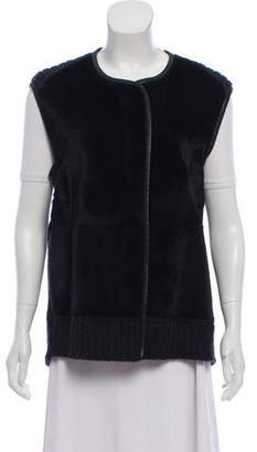 Raquel Allegra Wool and Fur Vest