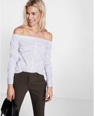 Express off the shoulder stripe shirt