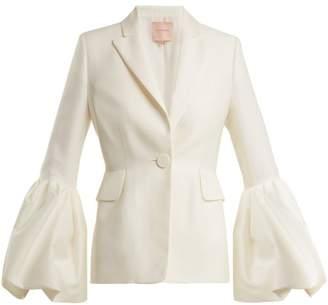 Roksanda Narika Puff Sleeved Crepe Blazer - Womens - Ivory
