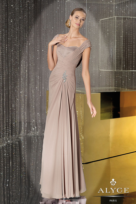 Alyce Paris Mother of the Bride - 29300 Dress in Platinum $330 thestylecure.com