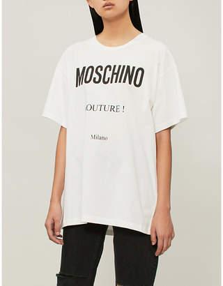 Moschino print cotton-jersey T-shirt
