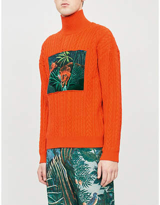 Kenzo Memento turtleneck wool-blend jumper