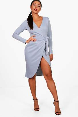 boohoo Wrap Front Tie Dress