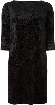 Dorothy Perkins Womens **Billie & Blossom Black Velvet Shift Dress