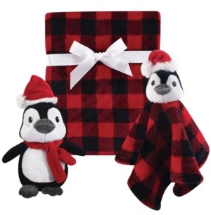 Baby Vision Hudson Baby Plush Blanket, Security Blanket and Toy Giftset, One Size