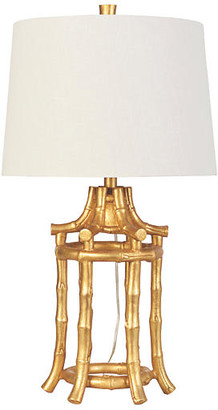 Couture Golden Bamboo Table Lamp