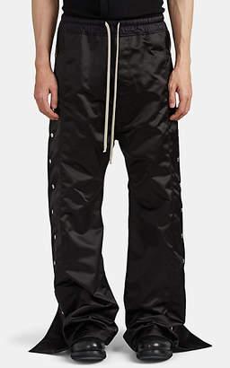 Rick Owens Men's Satin Tearaway Wide-Leg Jogger Pants - Black