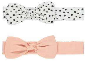 George Assorted Polka-Dot and Plain Bow Headbands 2 Pack