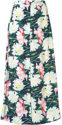 LAYEUR floral flared trousers