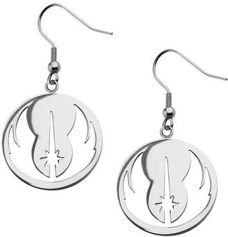 Star Wars FINE JEWELRY Stainless Steel Jedi Order Drop Earrings