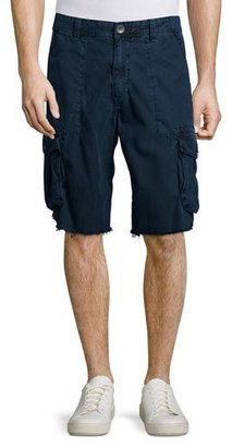 True Religion Weekender Frayed Cargo Shorts, Navy $159 thestylecure.com