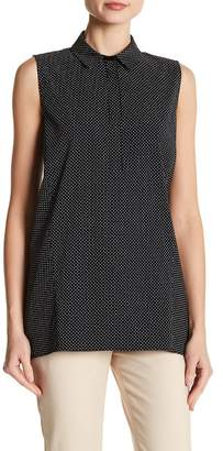 Lafayette 148 New York Hollyn Sleeveless Collared Blouse