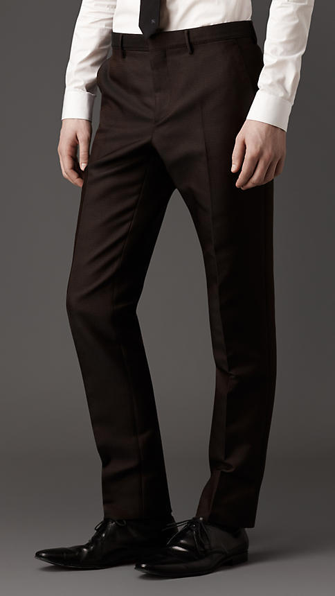 Burberry Slim Fit Technical Silk Trousers