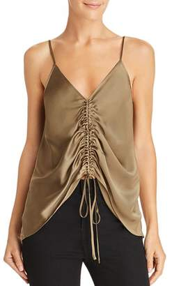 CAMI NYC Reagan Ruched Drawstring Silk Camisole
