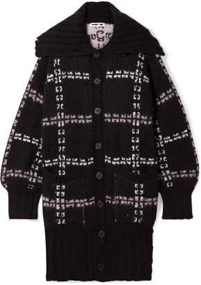 McQ Oversized Checked Jacquard-knit Coat