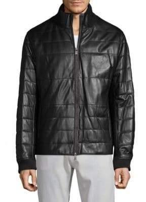HUGO BOSS Neffo Leather Jacket