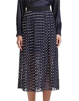 SABA Lois Pleat Midi Skirt