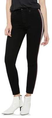 Joe's Jeans Charlie Arianna High-Rise Racing Stripe Skinny Jeans