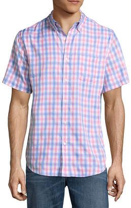 ST. JOHN'S BAY Short Sleeve Performance Button-Front Shirt