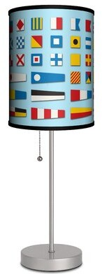 "Ebern Designs Lecenta Nautical Flags 19"" Table Lamp Ebern Designs"