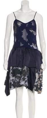 Michael Van Der Ham Printed Embellished Dress