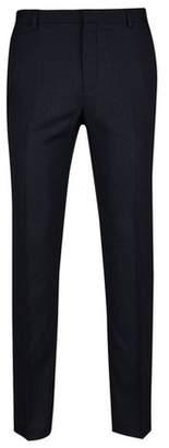 Burton Mens Big & Tall Navy Texture Slim Fit Stretch Trousers