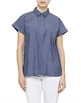 David Jones Short Sleeve Chambray Shirt