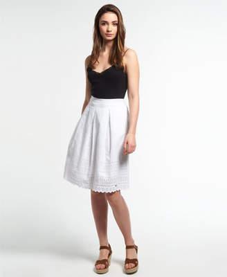 Superdry Broderie Shimmer Midi Skirt
