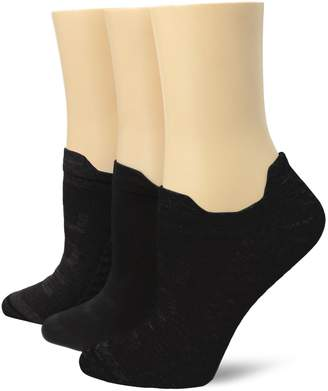 Hue Women's Air Sleek Front and Back Tab 3 Pack Athletic Socks
