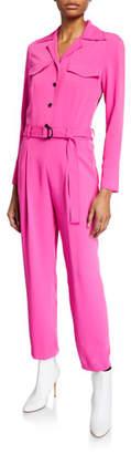 Kenzo Belted Long-Sleeve Jumpsuit