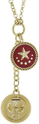 Foundrae Baby Protection And Petite Strength Medallion On Mixed Belcher Necklace
