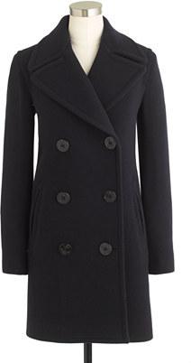 J.Crew Stadium-cloth captain coat