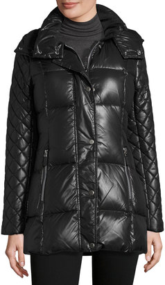 Marc New York by Andrew Marc Alise Quilted Puffer Coat, Black $117 thestylecure.com