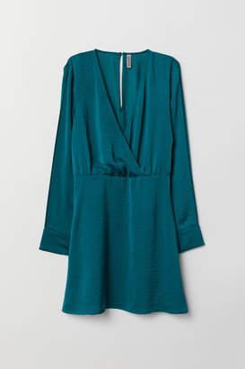 H&M V-neck Dress - Turquoise
