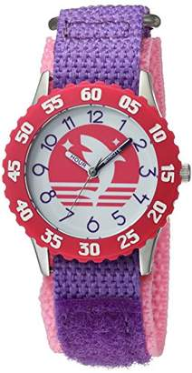 EWatchFactory Girl's 'Shark Week' Quartz Stainless Steel and Nylon Sport Watch