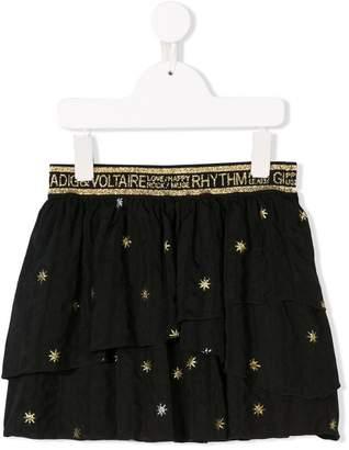 Zadig & Voltaire Kids star glitter skirt
