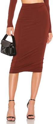 Alexander Wang Crepe Jersey Twisted Skirt