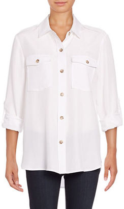 Lord & Taylor Leigh Solid Blouse $80 thestylecure.com