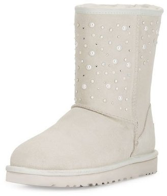 UGG Classic Short Everlasting Boot, White $295 thestylecure.com