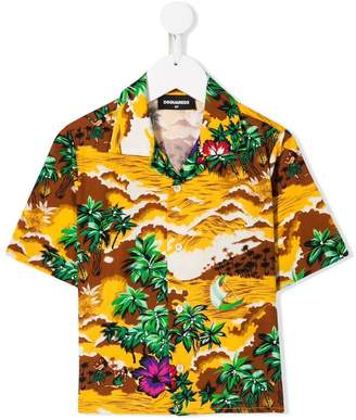 DSQUARED2 Hawaii Landscape print shirt