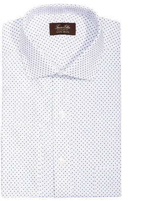 Tasso Elba Men's Classic/Regular Fit Non-Iron Diamond Print French Cuff Dress Shirt