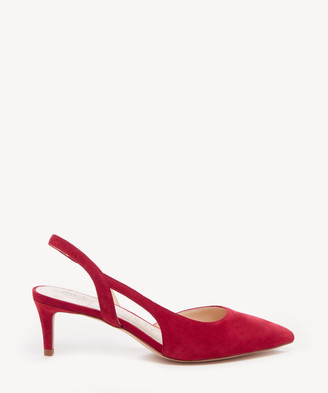 Sole Society Women's Barin Slingback Pumps Lipstick Size 5 Leather From