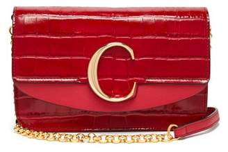 Chloé The C Mini Leather Clutch Bag - Womens - Red