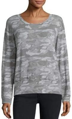 Monrow Camouflage-Print Sweatshirt