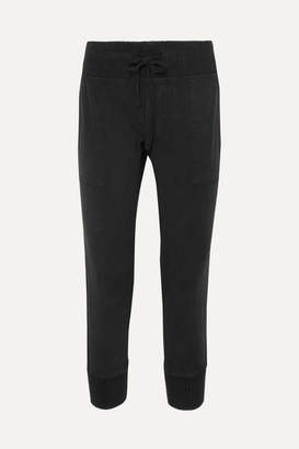 James Perse Cotton-twill Track Pants - Black