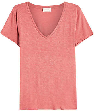 American Vintage V-Neck T-Shirt with Cotton