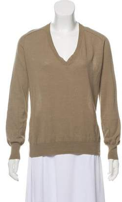 Alexander Wang V-Neck Long Sleeve Top