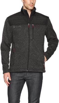 Free Country Men's Full Zip Sweater Fleece Quilted Jacket