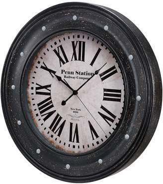 Bulova Distressed Wall Clock
