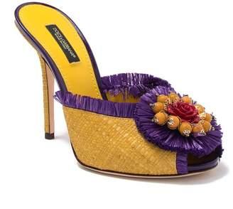 Dolce & Gabbana Embellished Rose Stiletto Heel Sandal